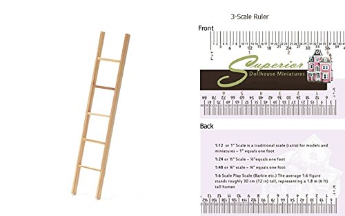 Handley House Dollhouse Miniature Straight Ladder, 6 Inch