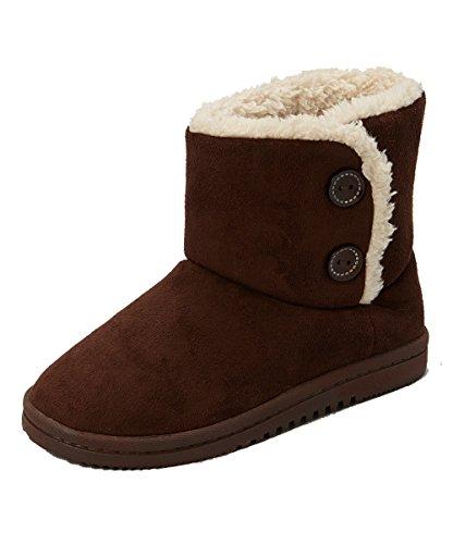 Sporto Womens Memory Foam Faux Sheepskin Shearling Boots,DARK BROWN,S