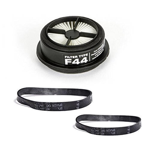 Top Vacuum Parts TVP F44 Quick Lite Cyclonic Comes Foam Primary Filter 2pk Style 15 Dynamite Flat Belts, Fits Models UD20015, UD20020, UD20025, UD20100, UD20100EB.
