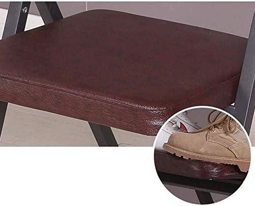 ASDAD Salle Manger Chaise Chaise De Bureau Pliante Chaise De Dossier D'ordinateur avec Chaise Rembourrée en Similicuir Brun
