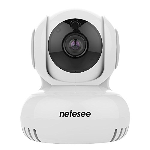 Netesee Security Camera  720P Hd Pan Tilt Zoom Wireless Security Surveillance System Night Vision For Baby  Elder  Pet Nanny Monitor Y1 White
