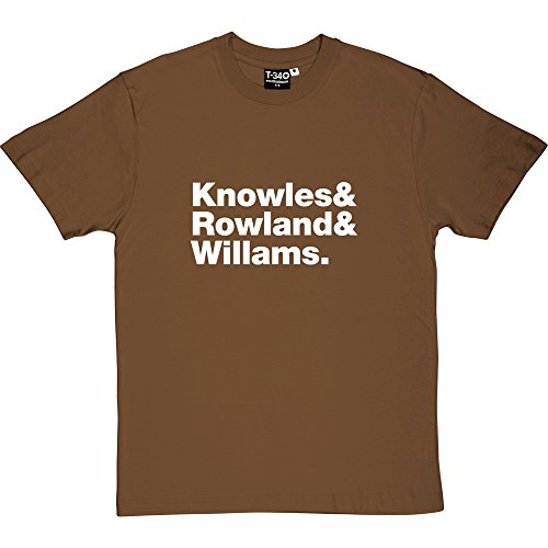 T34 Destiny's Child Line-Up Brown/Hazelnut Men's T-Shirt 4XL (White Print)