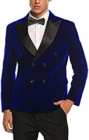 COOFANDY Men's Modern Tuxedo Jacket One Button Casual Suit Blazer Jacket for Dinner, Party, Wedding,