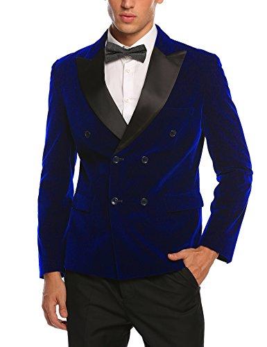 COOFANDY Men's Dinner Jacket, Slim Fit Peak Lapel Blazer Jacket, Formal Tuxedo Suit For Party & Wedding
