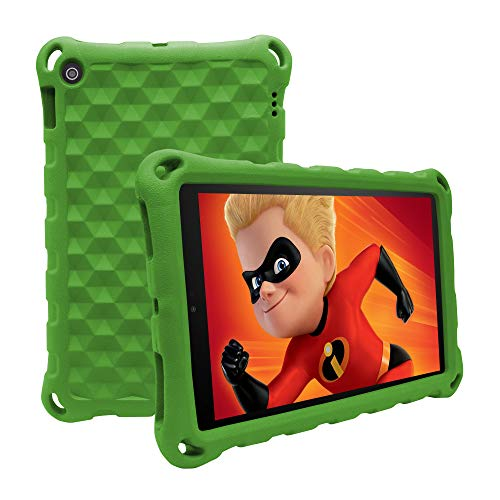 (All-New HD 10 Tablet Case (2015/2017/2019 Released) - 3D Texture Design Light Weight Shock Proof Back Cover Suitable for Children and Adults,Comfortable Feel Case for HD 10.1