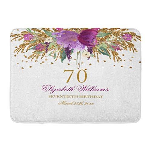 (Custom Doormats Floral Amethyst 70Th Birthday Home Door Mats 15.7