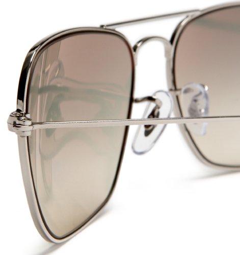 RB3136 Shiny Ray gafas de Grey Silver sol unisex Caravan Len Ban Frame Ucqc65F