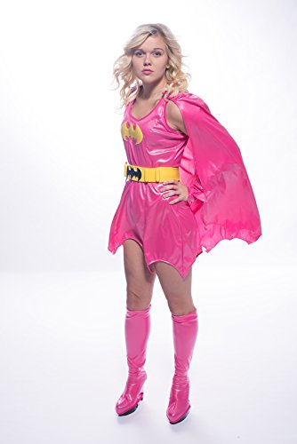 Deluxe Adult Pink Batgirl Womens Costume - Size