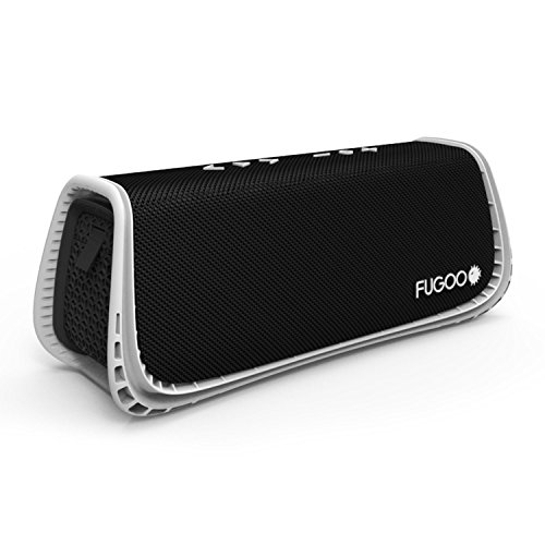 FUGOO Sport XL - Portable Rugged Waterproof Wireless Bluetooth Speaker 35 Hrs Battery Life with Built in Speakerphone (Black/White)