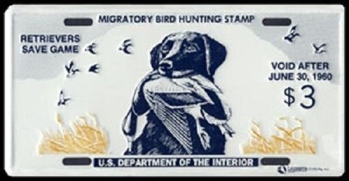 FEDERAL DUCK STAMP LICENSE PLATE
