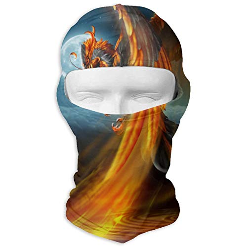 Magic Phoenix Balaclava Face Mask Hood Patterned Thermal Windproof Ultraviolet-Proof Mask for Motorcycle Hiking Skiing