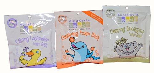 (Aura Cacia Kids Foaming Bath Salt Variety Pack (3PK))
