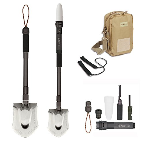 DoubleWin All-in-one Portable Outdoor Foldable Shovel Multitools for Snow / Gardening / Camping / Entrenching Tool / Auto Emergency Kit / Tactical Military / Self-defense / Heavy Duty Survival Gear by