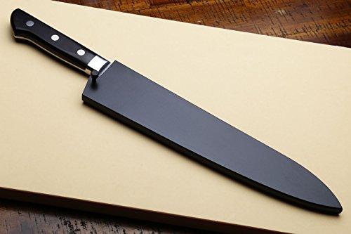 Yoshihiro Ginsan-Ko High Carbon Stain Resistant Steel Gyuto Japanese Chefs Knife with Nuri Saya Cover (8.25'' (210mm)) by Yoshihiro (Image #8)