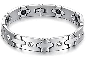 Mens titanium steel Energy bracelet