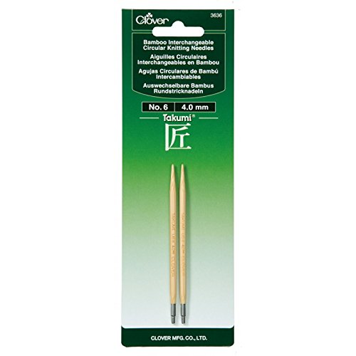 Clover Needlecraft Takumi No-6 Bamboo Interchangeable Circular Knitting Needles Clover Needlecraft inc. 075499