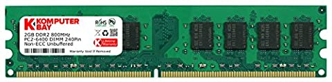 Komputerbay 2GB DDR2 800MHz PC2-6300 PC2-6400 DDR2 800 (240 PIN)