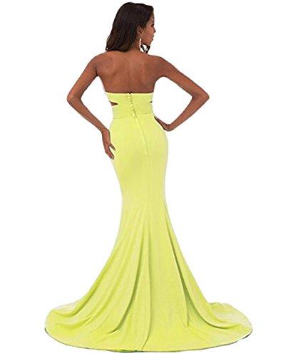 Gelb Beauty of Damen Leader Kleid the nXx6BEqYg