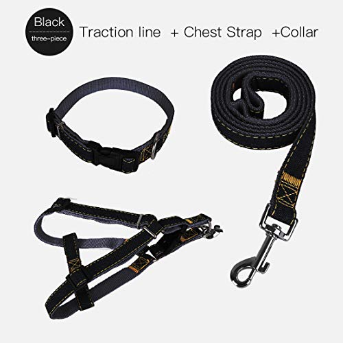Sunglow Cowboy Dog Traction Leash, Cowboy Dog Chest Strap, Cowboy Dog Collar,Three-Piece Suit,Thick wear-Resistant…