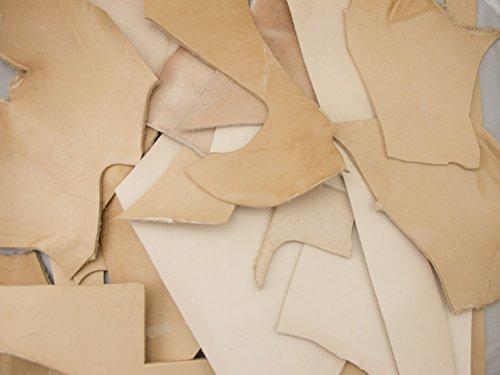 Slc's Natural Veg Tan Mixed Weight Leather Scrap Bag 2lbs