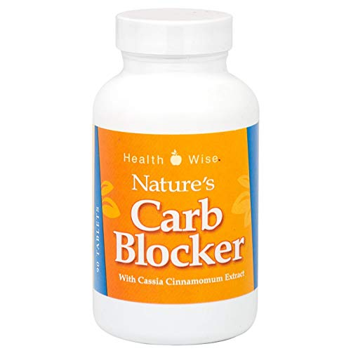 HealthSmart Supplement - Nature's Carb Blocker - Diet Supplement - Starch Neutralizer - Natural Ingredients - 90 Tablets