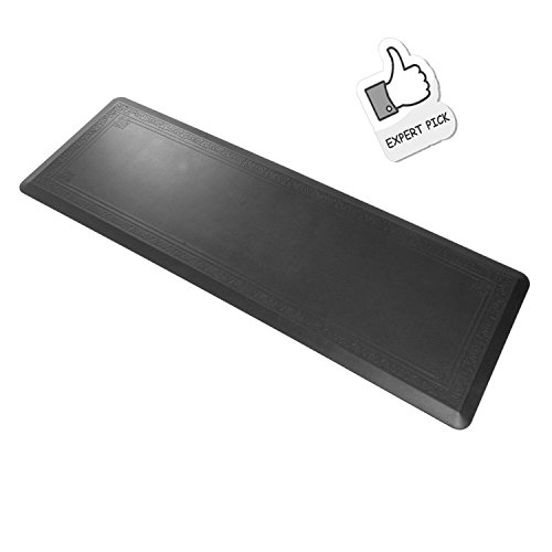 Grand Era Anti-Fatigue Comfort Mat Ergonomically Engineered Mat, Perfect for Kitchen, Bathroom or Workstations, 24'' x 72'', Black by GRAND ERA