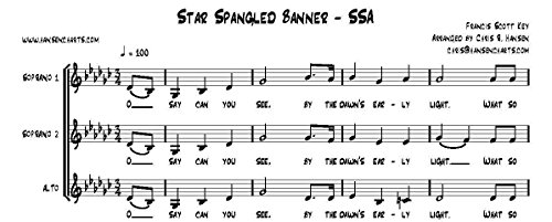 The Star Spangled Banner Inspired by the Dixie Chicks FOR SSA Women's Choir or Trio