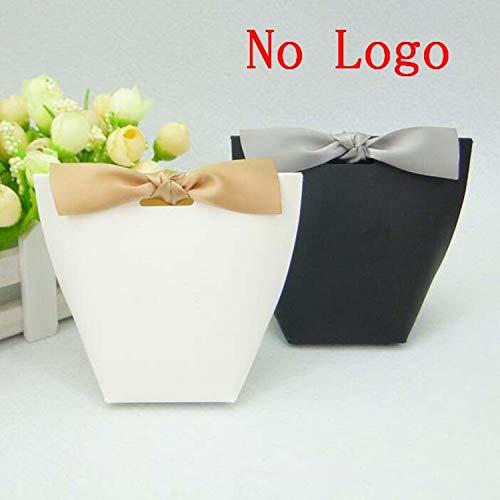 100pcs/50pcs/20pcs Merci Beaucoup White Color Wedding Gift Boxes Paper Cake Box Baby Shower Favor Boxes Candy Box with Ribbon (Mixed Colors, 50PCS)