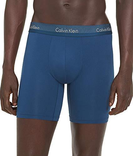 Calvin Klein Men's Underwear Light Micro Boxer Briefs, Majolica Blue, L