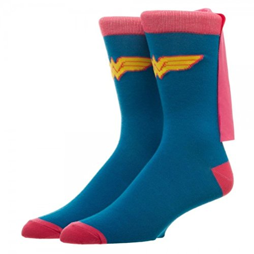DC Comics Cape Crew Socks (Wonder Woman Cape),Sock size - Cape Wonder Woman Socks