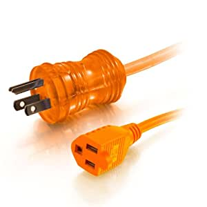 C2G/Cables to Go 16AWG Hospital Grade 8-Feet Power Extension Cable, Orange (48072)