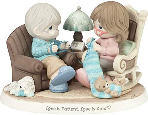 Precious Moments Ltd Ed Couple Knitting 192007 Patient Love Is Kind Limited Edition Bisque Porcelain Figurine Multi Amazon Sg Home
