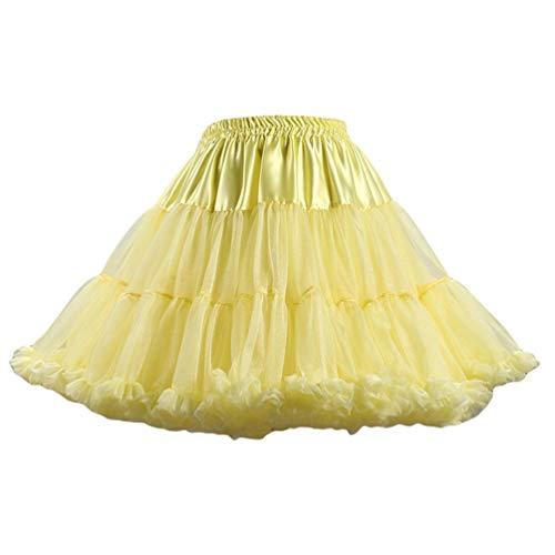 YAANCUNN Jupon Image Jupe Court Tutu en Pettiskirt Couleurs Comme Varies 8 Ballet Tulle Femme Brwx754B