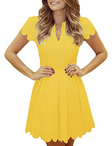 Party Sweet Scallop Pleated Skater Dress (Sweet Pleated)