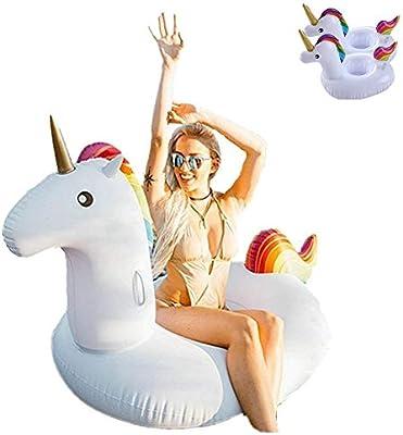 Lady of Luck Flotador Unicornio, Inflable Gigante Unicornio Adecuado para la Familia Usted con Pileta Disfrute de Sus Agradables Vacaciones con su Familia y ...