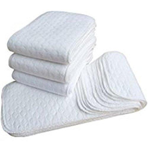 Lurryly 5Pcs Ecological Cotton Diaper Adjustable Reuseable W