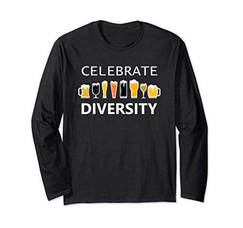 Celebrate Diversity Craft Beer Lover IPA Prost Oktoberfest  Long Sleeve T-Shirt