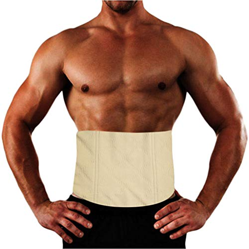 OrchidAmor 2019 Men Fat SaunaTummy Tuck Belt Body Shaper Girdle Belly Slim Waist Trainer Blouse Beige