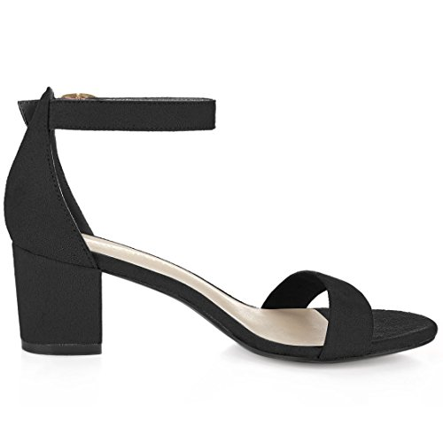 4043afd25 Allegra K Women Open Toe Mid Block Heel Ankle Strap Sandals - Import It All