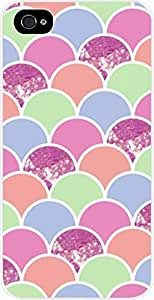 Scallops and Glitter Pattern - Case for the Apple Iphone 5-5s Universal- Hard White Plastic