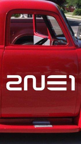 "2NE1 Kpop Band 9"" Die Cut White Vinyl Decal Sticker for Car Automobile Window Bumper Truck Laptop Ipad Notebook Computer Skateboard Motorcycle"