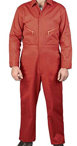 Walls Men's Twill Non Insulated Coveralls, Haliburton Red, 56 Tall