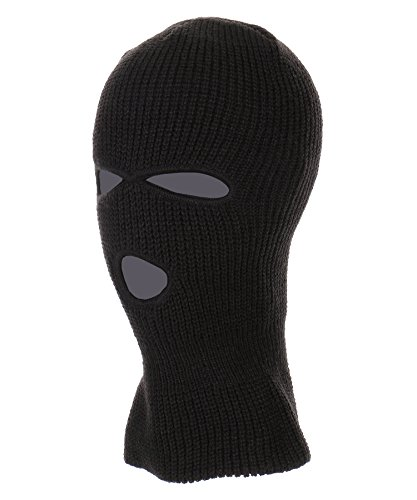 RufnTop Ski Mask for Cycling & Sports Motorcycle Neck Warmer Beanie Winter Balaclava Cold Weather Face Mask(3 Holes Black One - Is Shipping Usps What Standard