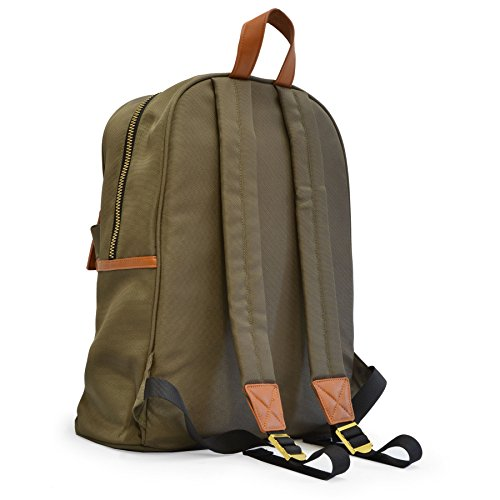 Nylon Briefcase with Laptop Sleeve by Adrienne Vittadini (Olive)