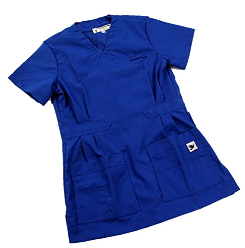 Dove Professional Apparel Women's V-Neck Scrub Top XXS Sailor Blue