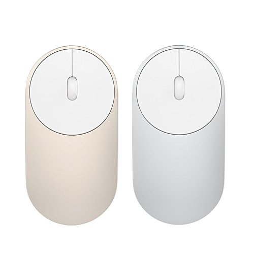 Silver Optical Mouse Wireless Rf (Original Xiaomi Mouse Portable Optical Wireless Bluetooth Mouse 4.0 RF 2.4GHz Dual Mode Connect for Laptop pc with Battery Stock (silver))