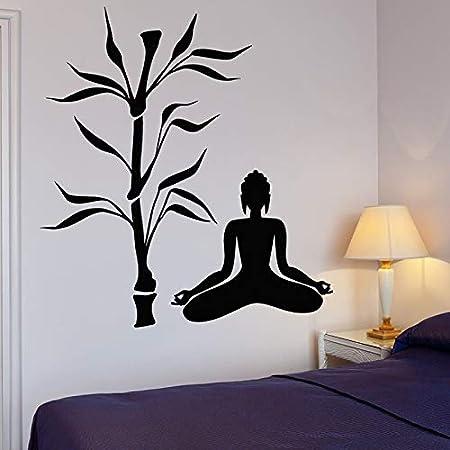 hllhpc Buda Árbol Tatuajes de Pared Yoga Budismo Meditación ...