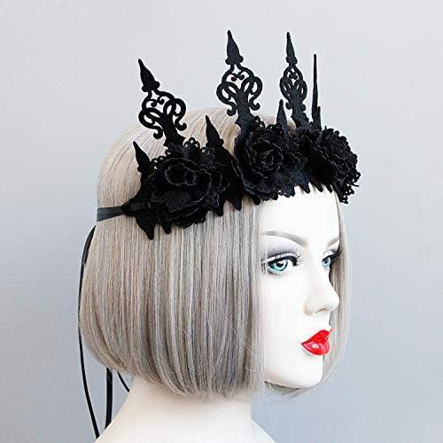 Elegant Gothic Roses Crown Headband
