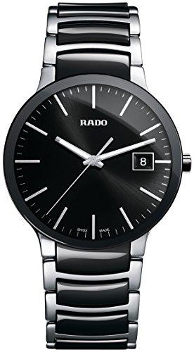 Rado R30934162 Centrix Ceramic Mens Watch - Black Dial