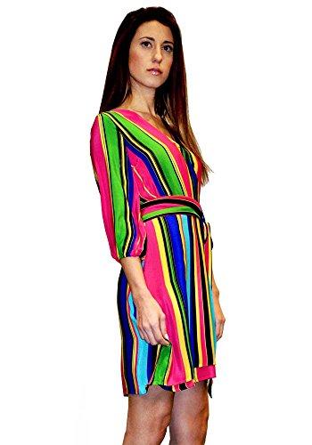 Ana Frau 100 Milano Kleid Kader Seide Bruna Print Pires rUH4wr